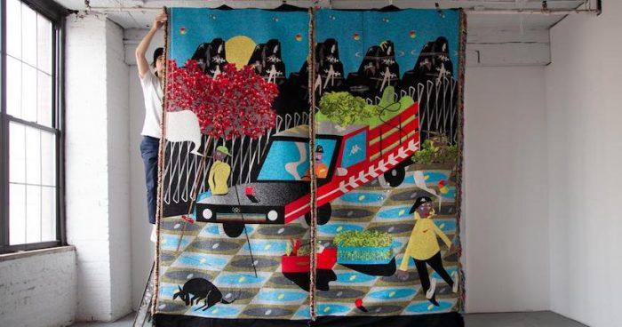 "Exposición ""Daño Estructural"" del artista Simón Sepúlveda en Persa Víctor Manuel, Barrio Franklin"