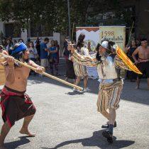 Municipalidad de Lumaco recreó la Batalla de Curalaba en Santiago