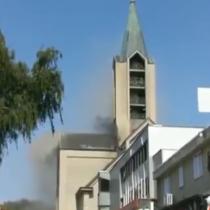 Se registra incendio al interior de la Catedral de Valdivia