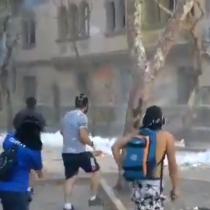 Lacrimógenas en Plaza Italia en nueva jornada de manifestaciones en el sector