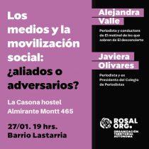 Alejandra Valle y Javiera Olivares participan en diálogo vecinal sobre el rol de los medios en las movilizaciones sociales