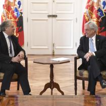 """Almagro visita a Piñera e insiste en la injerencia extranjera: """"Basta hacer un poco de seguimiento de las redes sociales"""""""