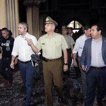 En picada: intenso despliegue comunicacional del Gobierno y Carabineros para condenar quema a iglesia San Francisco de Borja