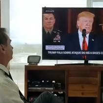 Bolsonaro se transmite observando discurso de Trump sobre Irán