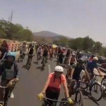 Manifestación de ciclistas llegó hasta la Ruta 68 y generó alta congestión vehicular