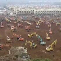 A todo motor en China: construyen hospital para combatir el Coronavirus que pretende estar listo en 10 días