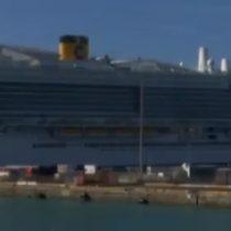 Suspenden desembarco de crucero en Italia ante posible caso de pasajera con Coronavirus