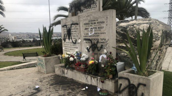 Rayan con símbolo de Patria y Libertad memorial de DD.HH. ubicado en Coquimbo