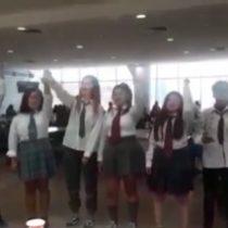 """Estudiantes secundarios realizan intervención al estilo de """"La Casa de Papel"""" en Coquimbo"""