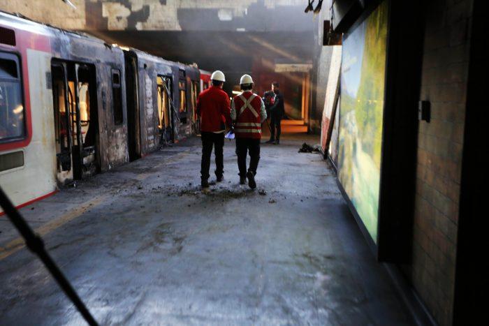 Ataques al Metro: Fiscalía informa que hay dos detenidos por daños e incendio de la estación San Pablo