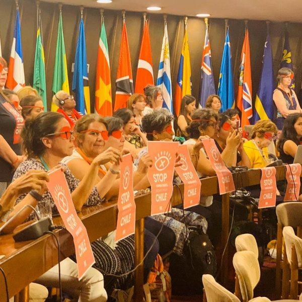 Doble Funa: mujeres se manifestaron contra la ministra Plá tras asumir la presidencia de la Conferencia sobre la Mujer de la CEPAL