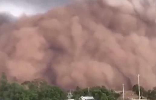 En Australia pesa el cambio climático: granizada y tormenta de arena afectaron en distintas localidades del país