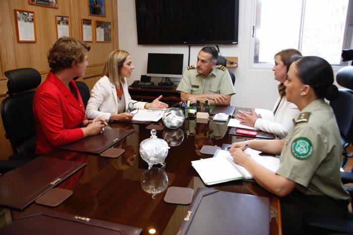 Ministra de la Mujer coordina ciclo de capacitaciones para Carabineros en casos de denuncias por violencia hacia la mujer