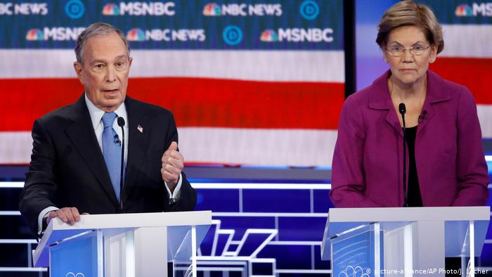 Bloomberg, blanco de ataques en el debate de las primarias demócratas
