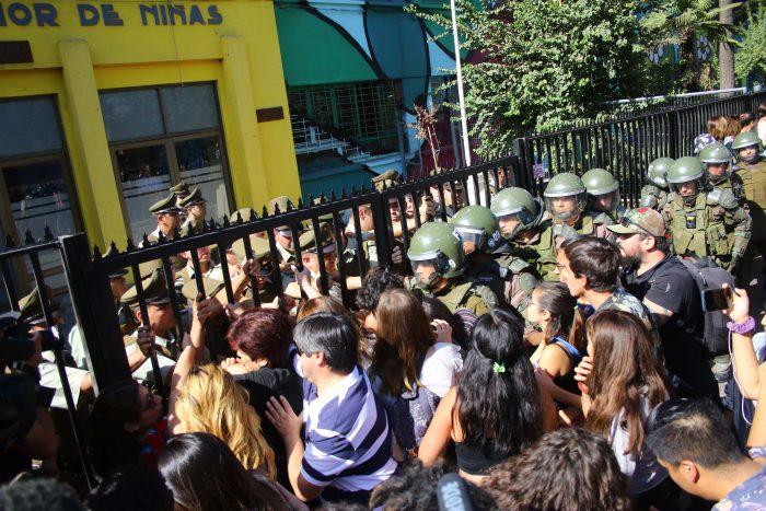 Manifestaciones en sede PSU de Estación Central marcan la última jornada de rendición de la prueba