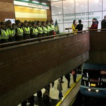 Federación de Sindicatos de Metro exige a autoridades de Gobierno y empresa retirar la 60° Comisaría de Carabineros de estación Baquedano