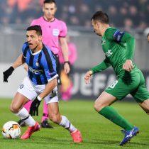 Con gran actuación de Alexis: Inter derrota 2 a 1 al Ludogorets y avanza de ronda en la Europa League