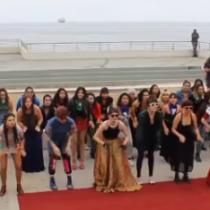 """""""No queremos festival, no queremos ciudad bella"""": Las Tesis realizaron nueva performance contra el certamen y la alcaldesa de Viña"""