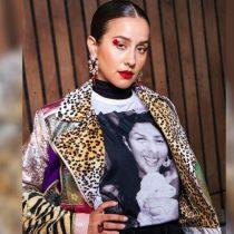 Denise Rosenthal vuelve a sorprender con su vestuario en el Festival de Viña del Mar: usó polera con imagen de la activista Macarena Valdés