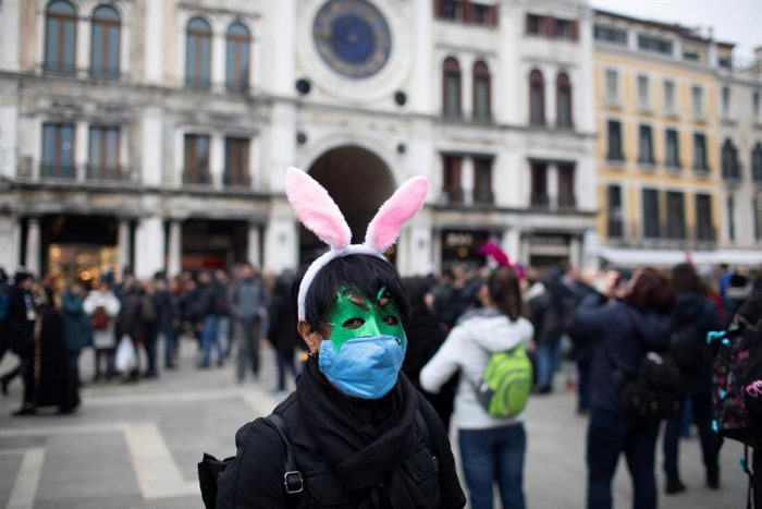 Italia: cancelan carnaval de Venecia y cierran escuelas en 3 regiones por coronavirus