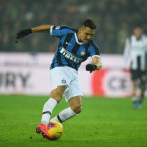 Con dos asistencias de Alexis Sánchez, el Inter de Milán venció por 3 a 1 al Torino