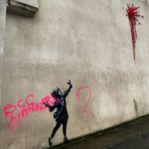 Vandalizan la última obra de Banksy en su ciudad natal en el Reino Unido