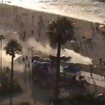Fuertes disturbios en Viña del Mar tras fiscalización de Carabineros a comerciantes ambulantes