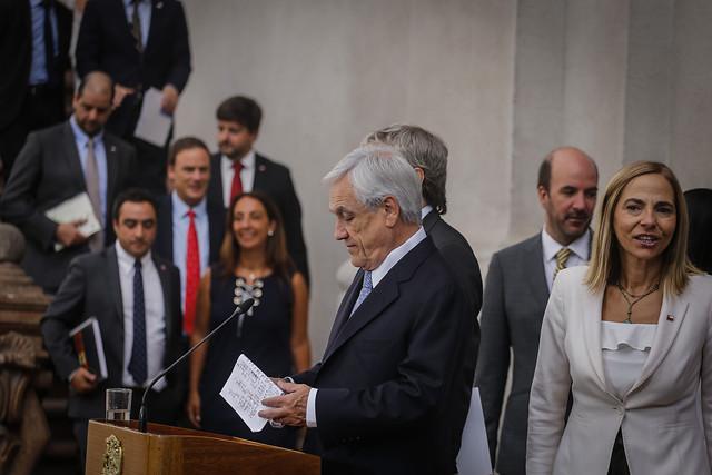 Oposición critica a Piñera por repetir el libreto de la violencia sin mencionar lo