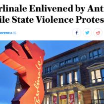 Revista estadounidense especializada en cine destaca las protestas en apoyo al estallido social en la Berlinale