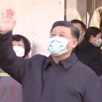 Apareció con mascarilla: presidente chino inspecciona control de coronavirus en Beijing