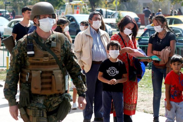 Chile, una sociedad debilitada frente al virus