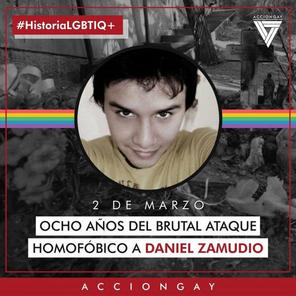 A ocho años del asesinato de Daniel Zamudio agrupaciones pro derechos LGBTIQ+ conmemoran su partida