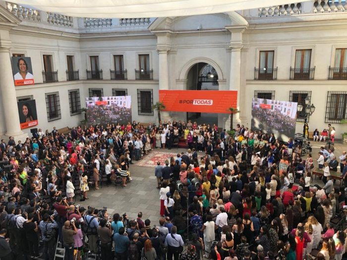 """Piñera en la ceremonia oficial por el 8M: """"El machismo es una enfermedad que ha causado demasiado daño durante demasiado tiempo"""""""