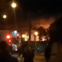 Incendio afectó a la estación Elisa Correa del Metro de Santiago
