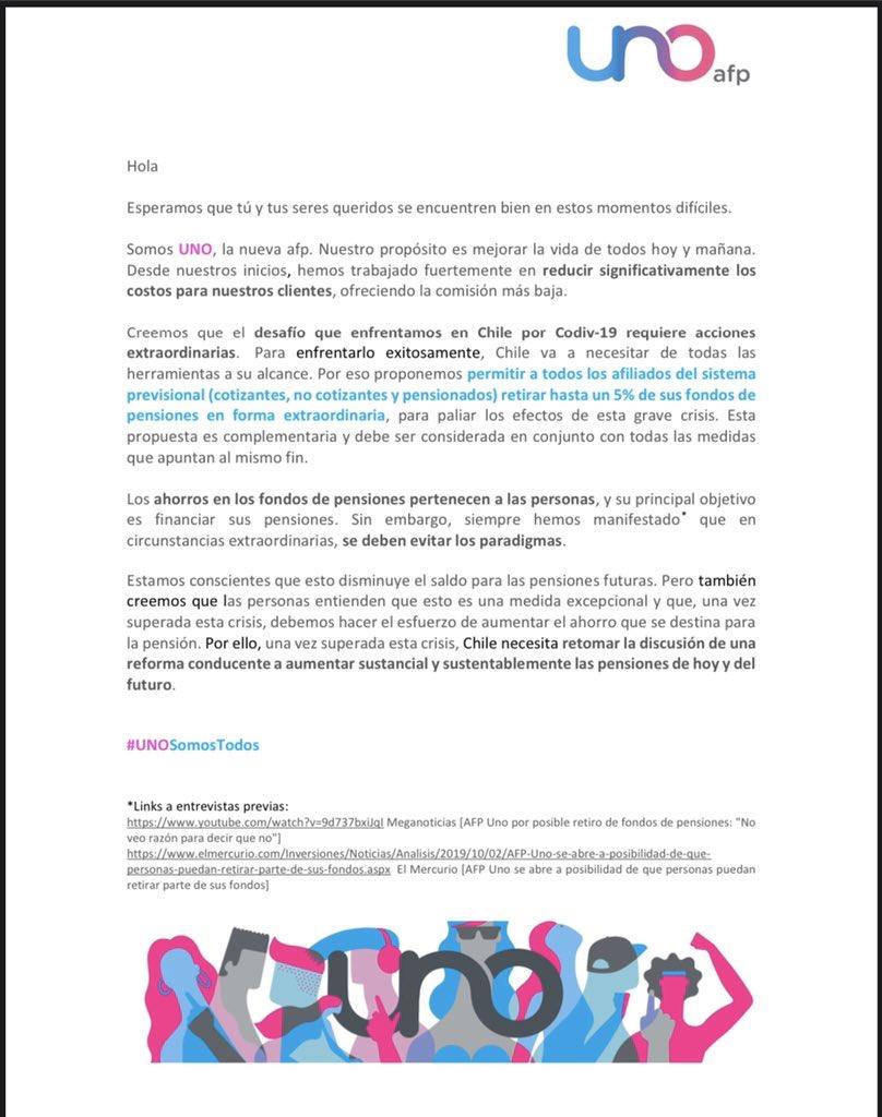 Carta AFP UNO