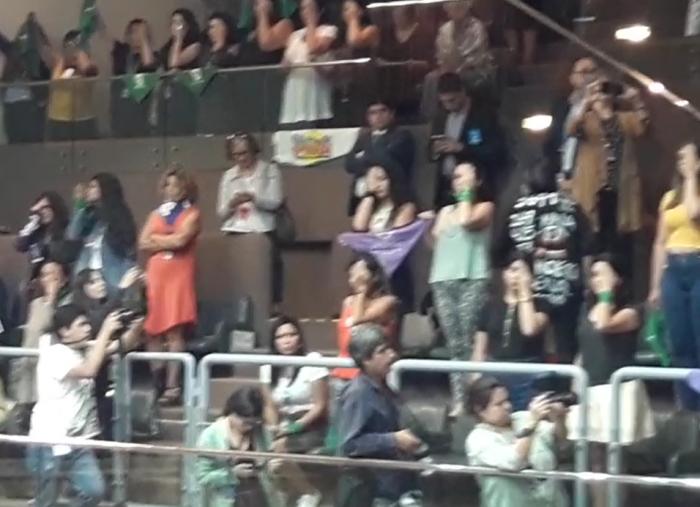 Mujeres se hicieron presentes en las tribunas del Senado durante votación de paridad de género