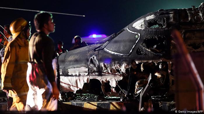 Ocho muertos en incendio de un avión ambulancia en Filipinas