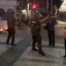 Fuera de protocolo: denuncian uso desmedido de gas pimienta por parte de Carabineros contra manifestantes