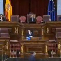 Valentina Cepeda, la mujer que se ganó los aplausos en el Congreso español, en la sesión marcada por las medidas rigurosas contra el coronavirus
