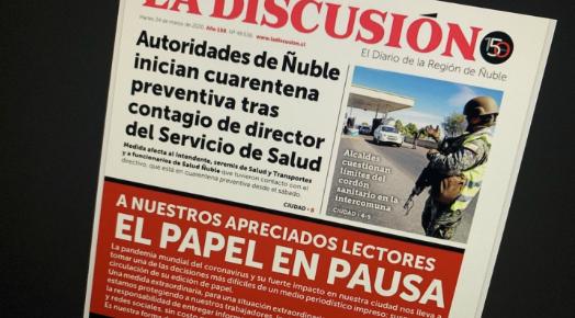 Tiempos que vienen: centenario diario La Discusión de Chillán pone