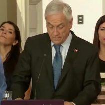 """Piñera echa leña al fuego en la antesala de la marcha del 8-M: """"A veces no es solo la voluntad de los hombres de abusar, sino también la posición de las mujeres de ser abusadas"""""""