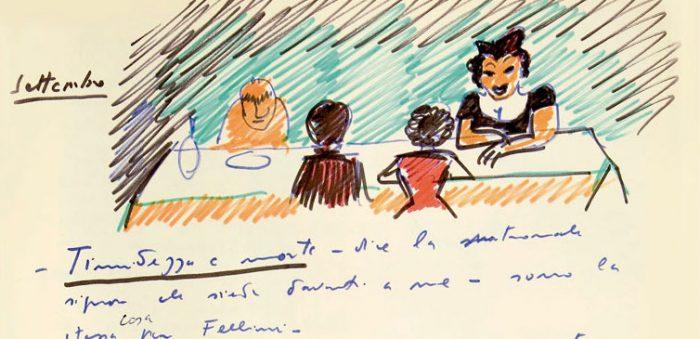 """Exposición """"La comida en los dibujos de Federico Fellini"""" invita a conocer al maestro del cine más allá de sus películas"""