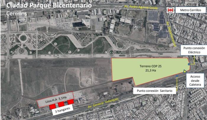 Coronavirus: autoridades presentan terreno en Cerrillos donde se emplazará hospital modular que permitirá enfrentar demanda de atenciones