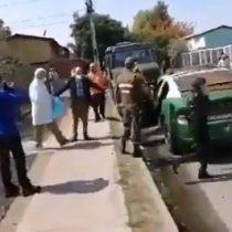 Captan rauda salida de ministro Mañalich en Puente Alto tras anunciar foco de contagio en hogar de ancianos