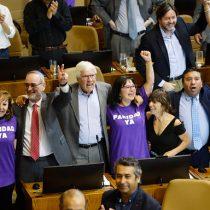 La celebración final en la Cámara de Diputados tras la aprobación de la paridad de género