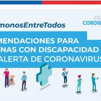 Publican decálogo con recomendaciones para personas con discapacidad ante Coronavirus
