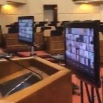 Adaptándose a la contingencia: realizan prueba de trabajo parlamentario telemático en el Congreso Nacional