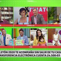 """Canales de TV se unieron en """"matinatón digital histórica"""" a horas del inicio de la Teletón"""