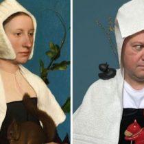 Cuarentena por el coronavirus: las divertidas imágenes de gente recreando algunos de los cuadros más famosos de la historia