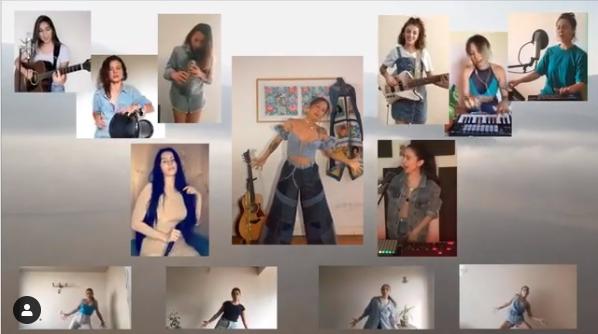 "Música en cuarentena: Denise Rosenthal interpretó online ""Agua Segura"" con Javiera Mena y Mala Rodríguez"